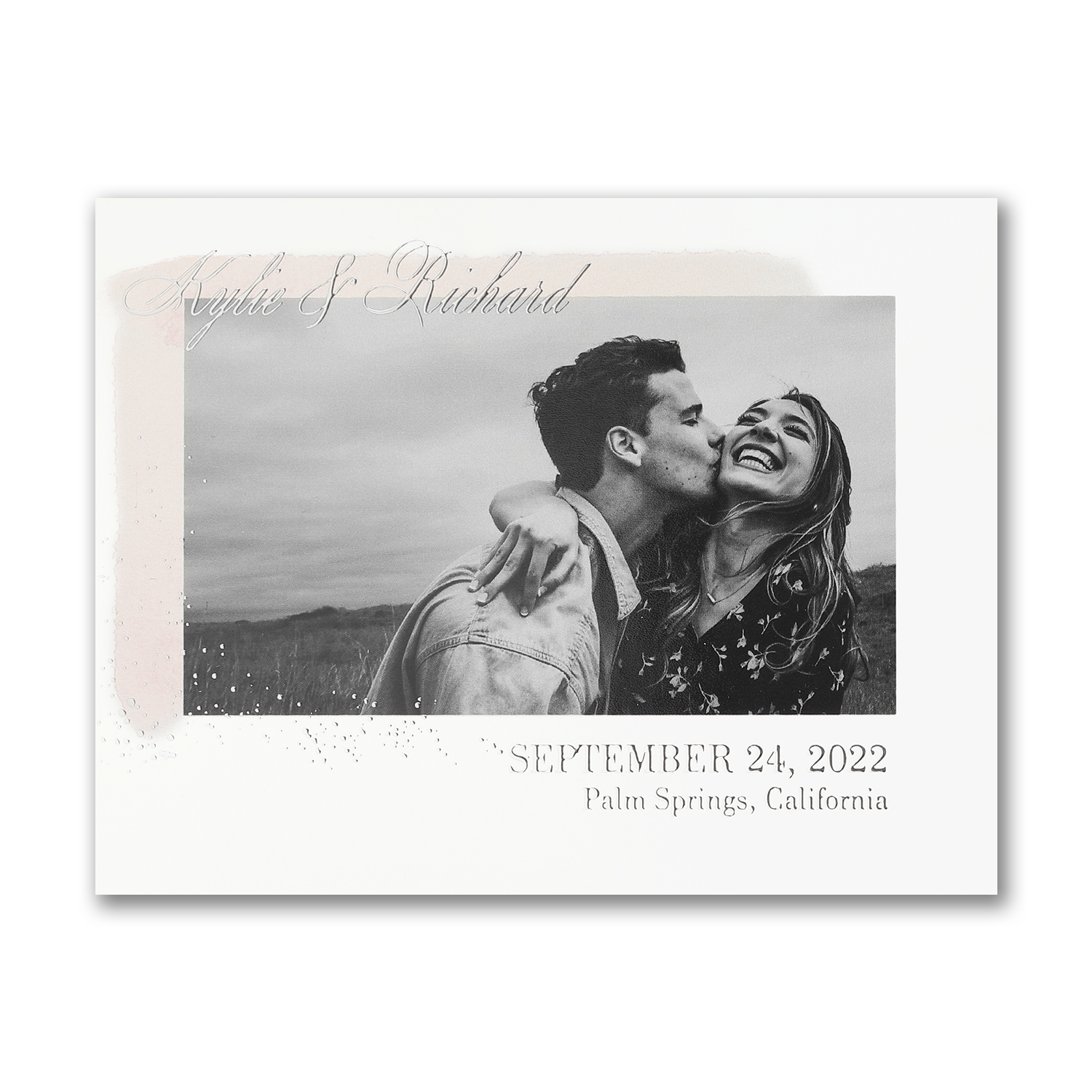 simplistic date photo save the date watercolor carlson craft