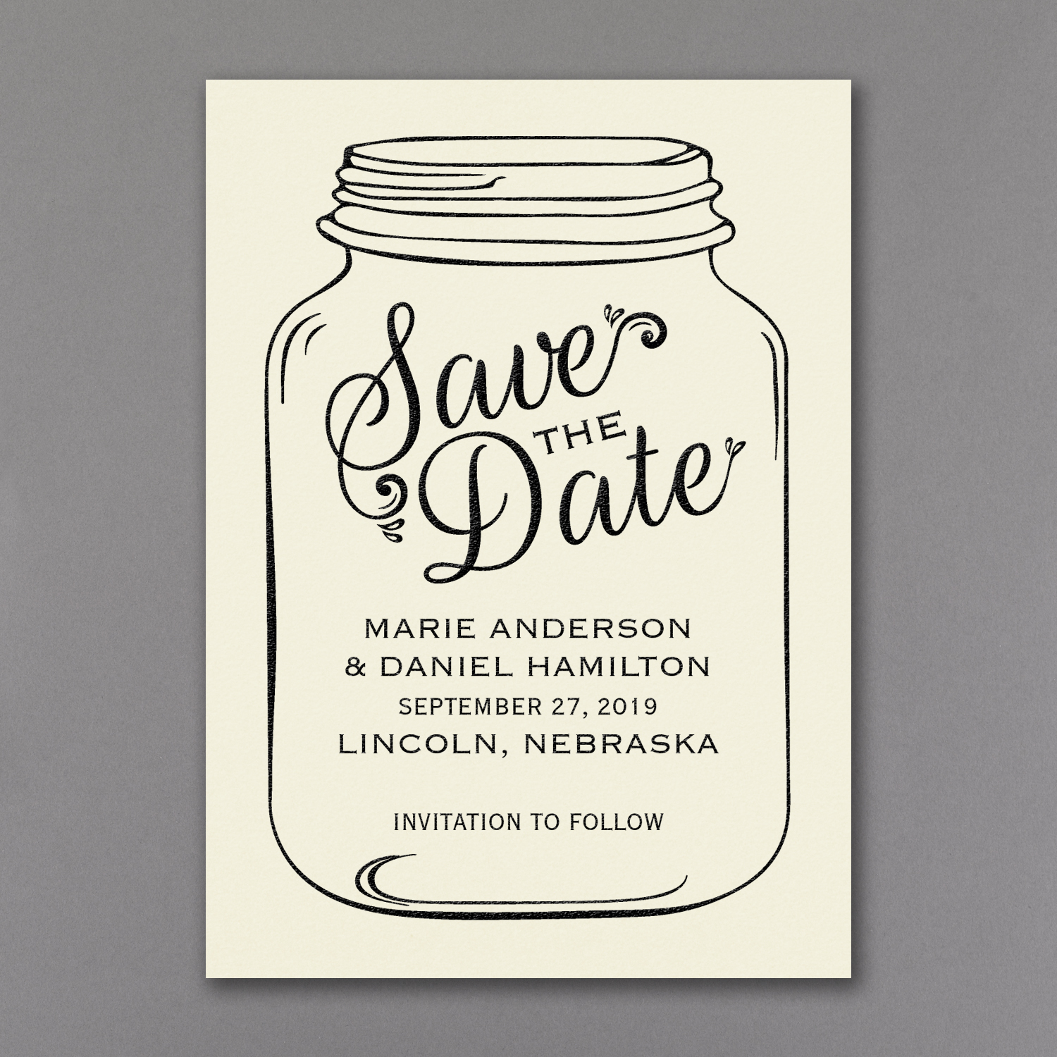 mason jar save the date carlson craft