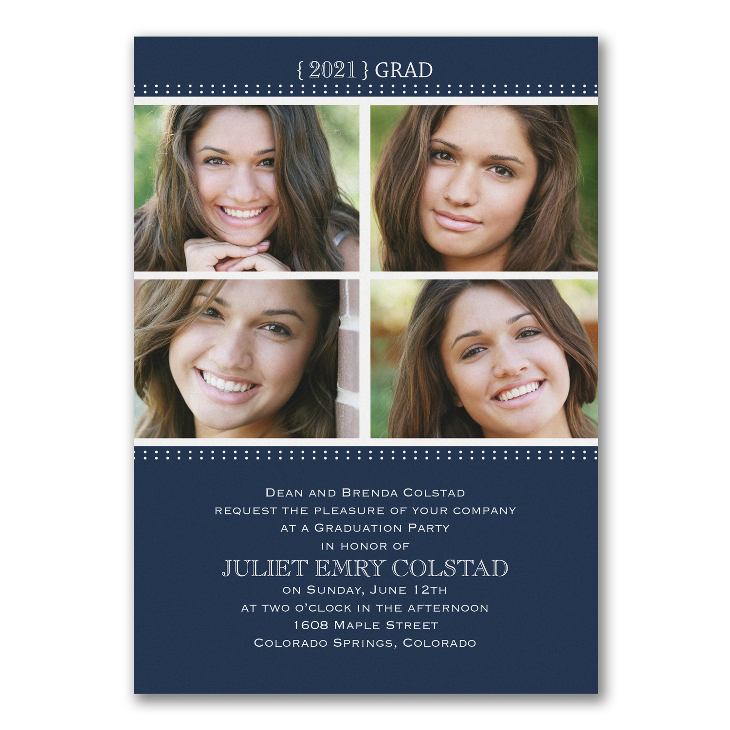 simply grad photo collage graduation announcement