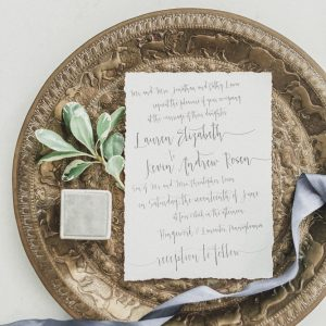deckled edge invitation