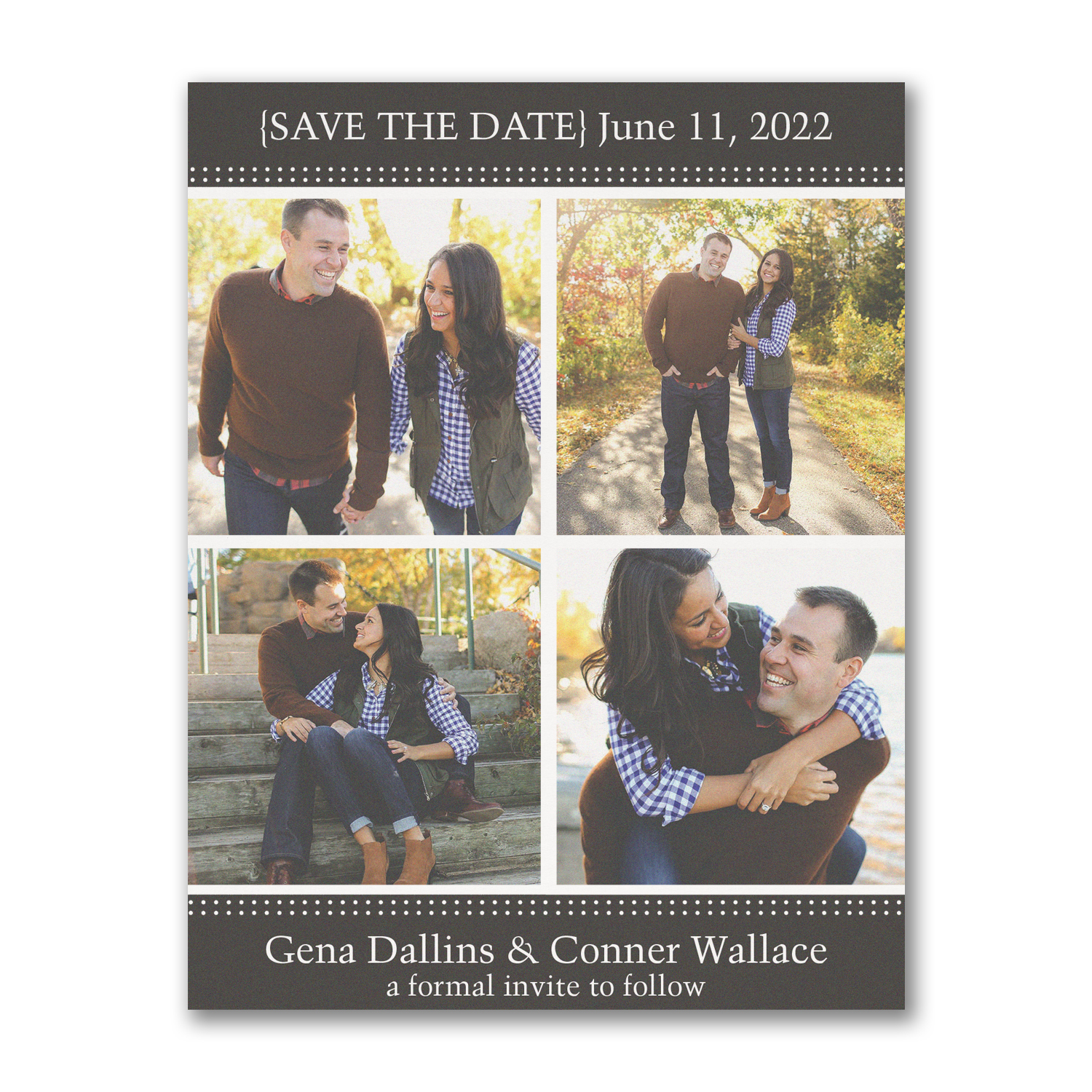 storybook romance photo save the date carlson craft