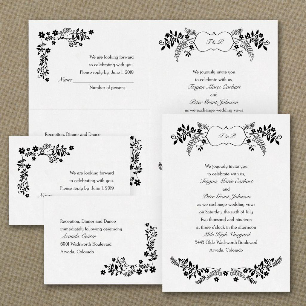 flower wedding invitation budget friendly
