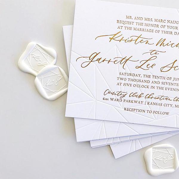 square wax seals wedding invitations