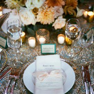 blush ribbon dinner menu