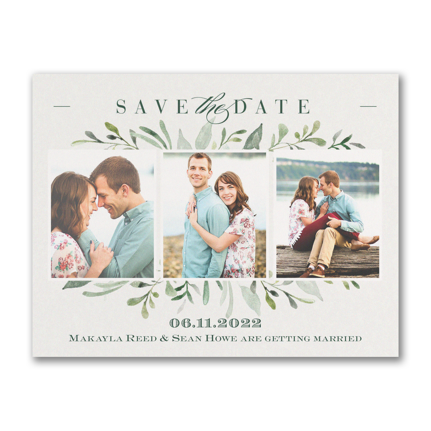 watercolor greenery save the date carlson craft