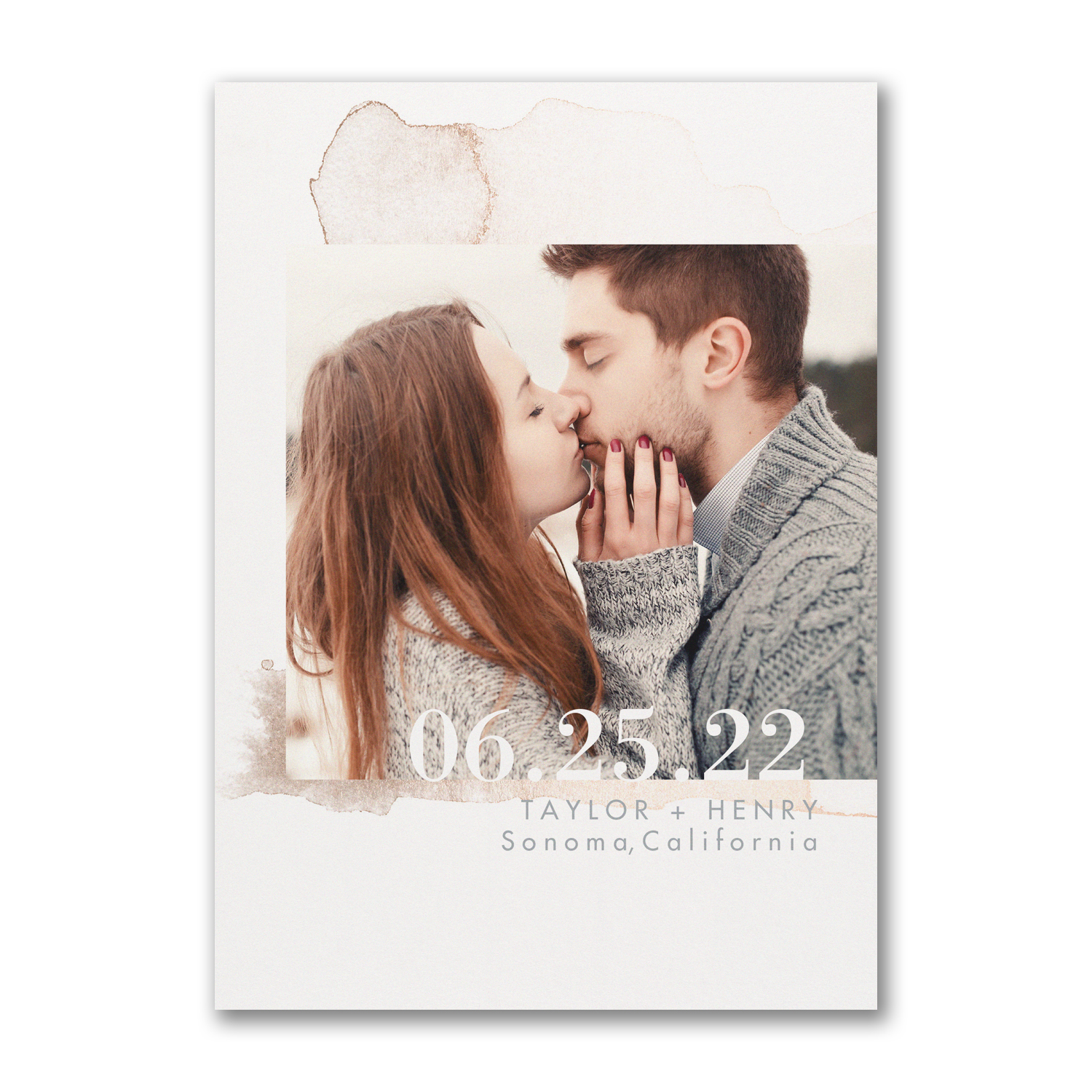 Watercolor Splotch save the date carlson craft