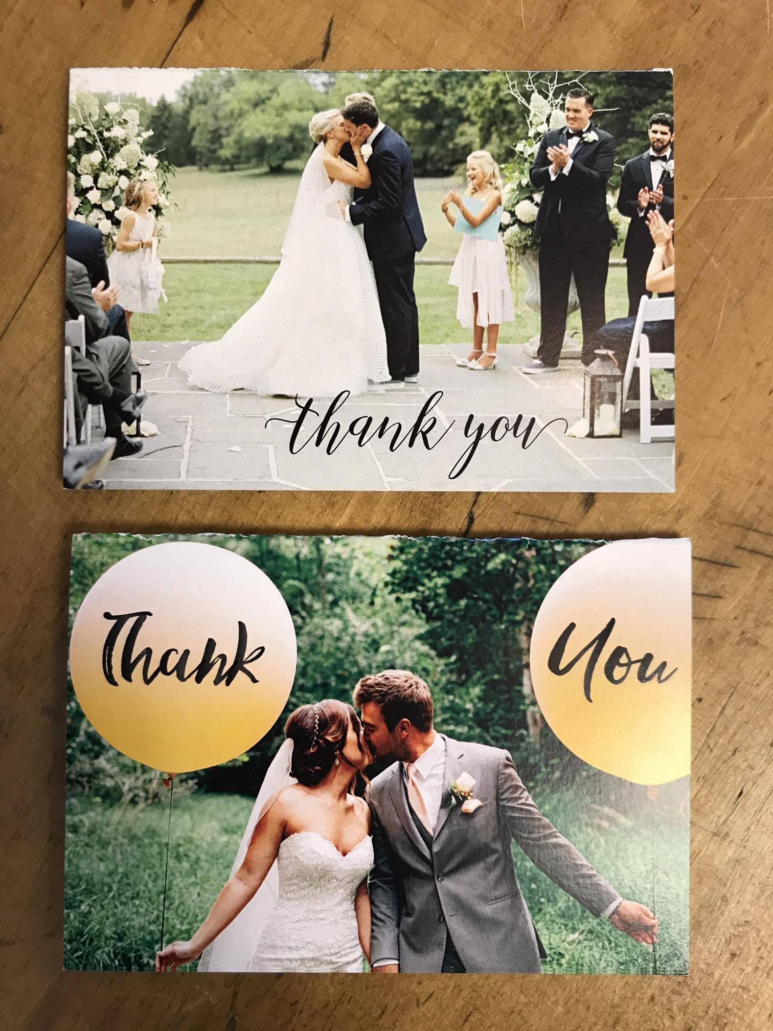 wedding photo thank you notes