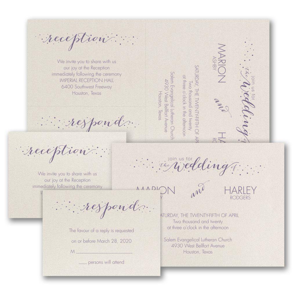 wedding dots invitation budget friendly