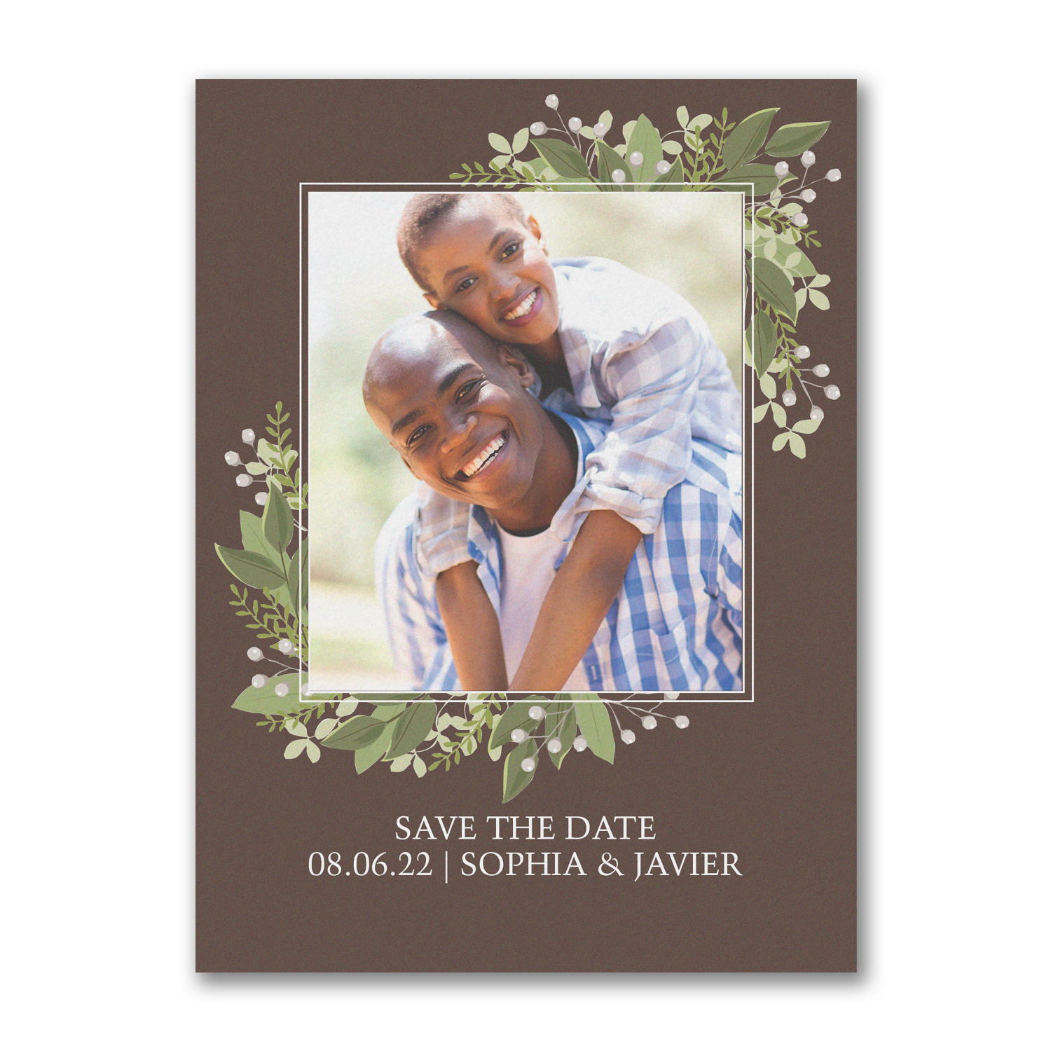 whimsical vines carlson craft save the date