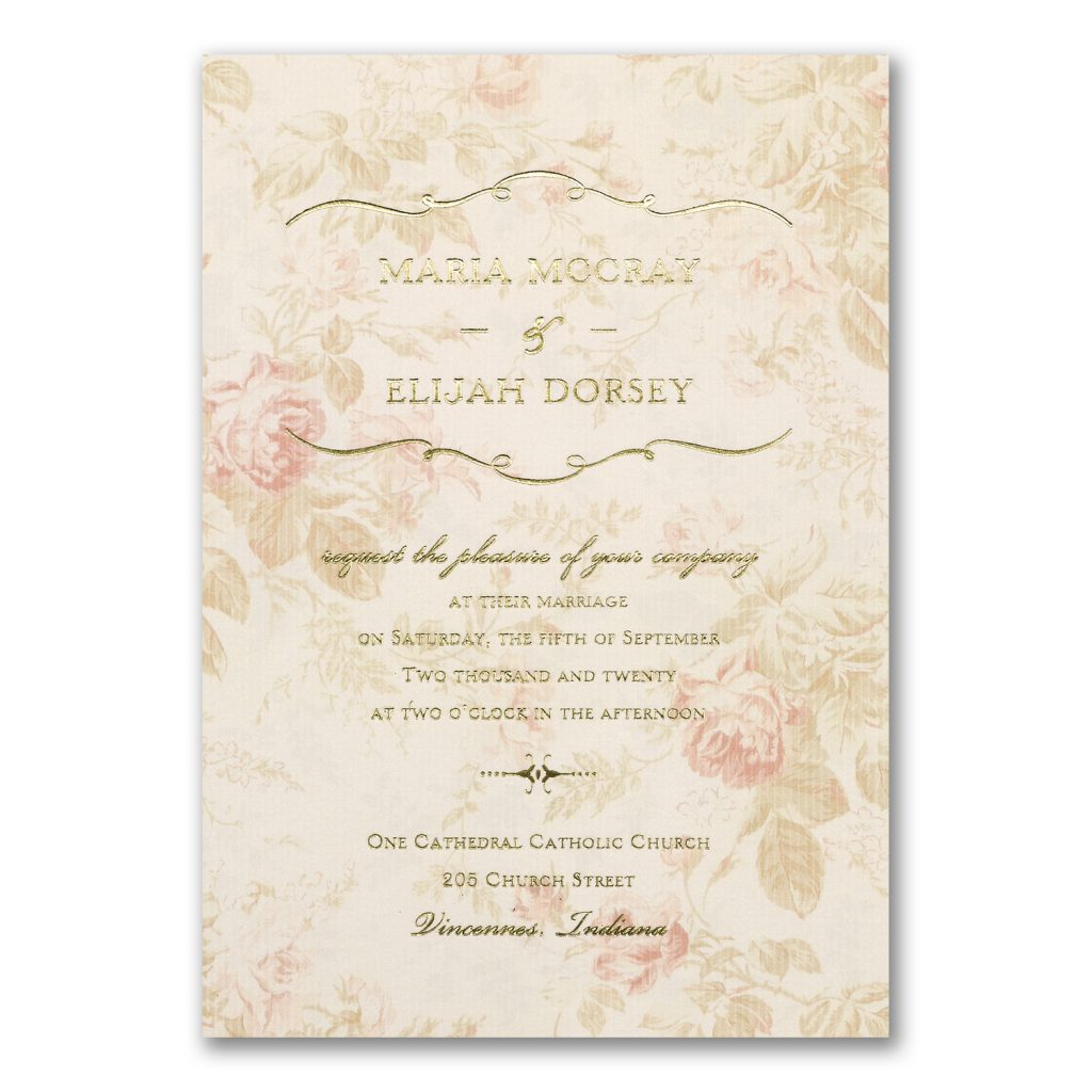 vintage gold foil invitation
