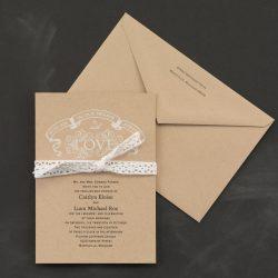 lace invitation rustic chic burlap