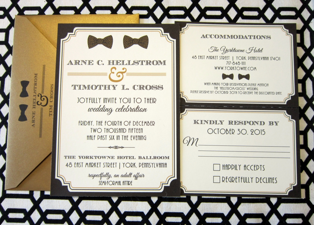 The Mysterious M On The Rsvp Card Persnickety Invitation Studio