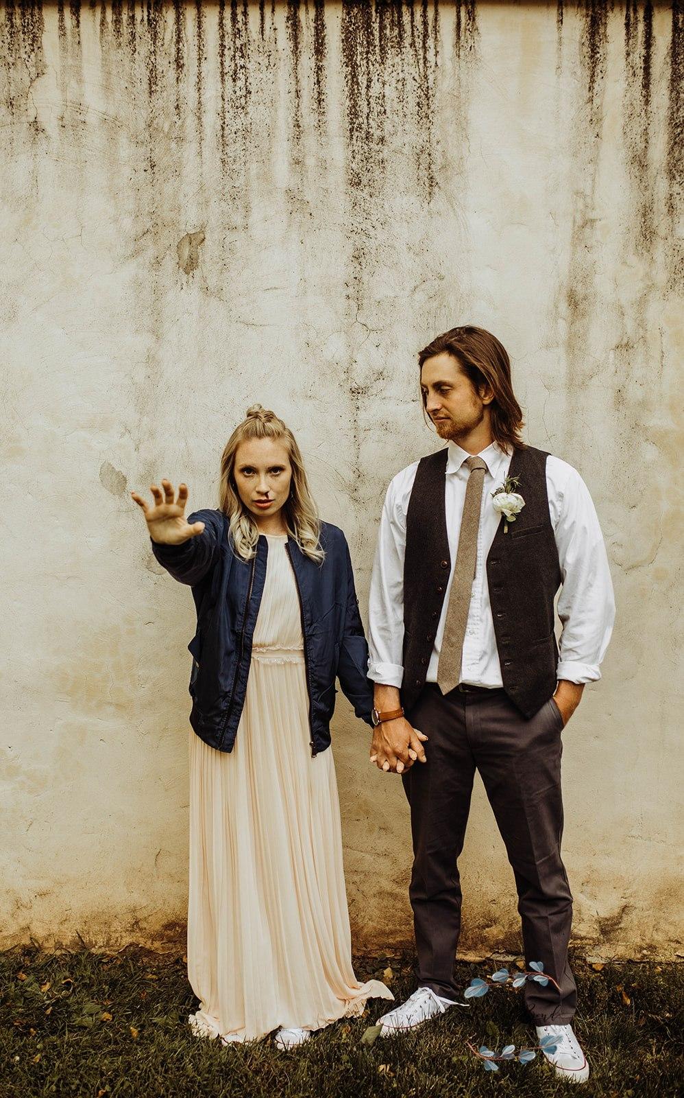 stranger things wedding photo shoot