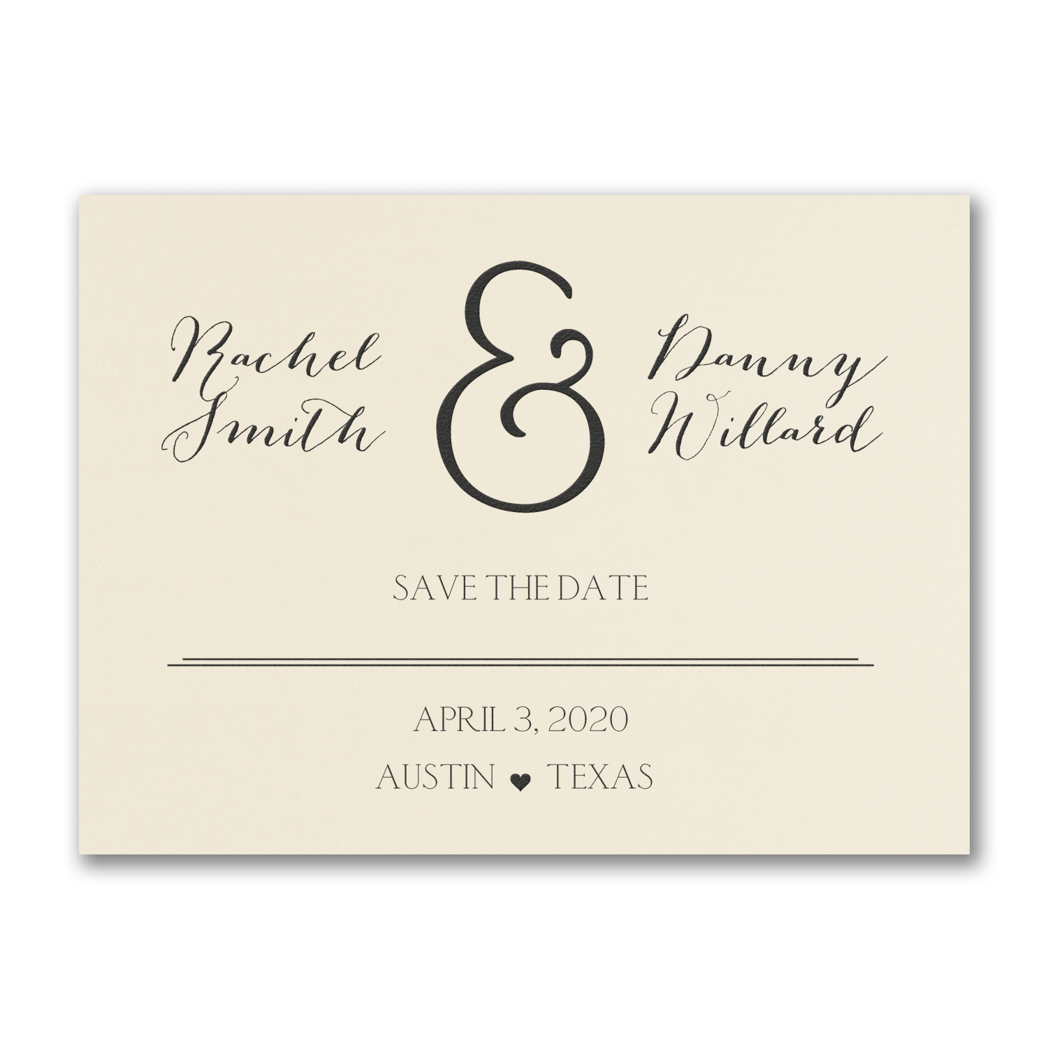 and the date is carlson craft save the date card foiling