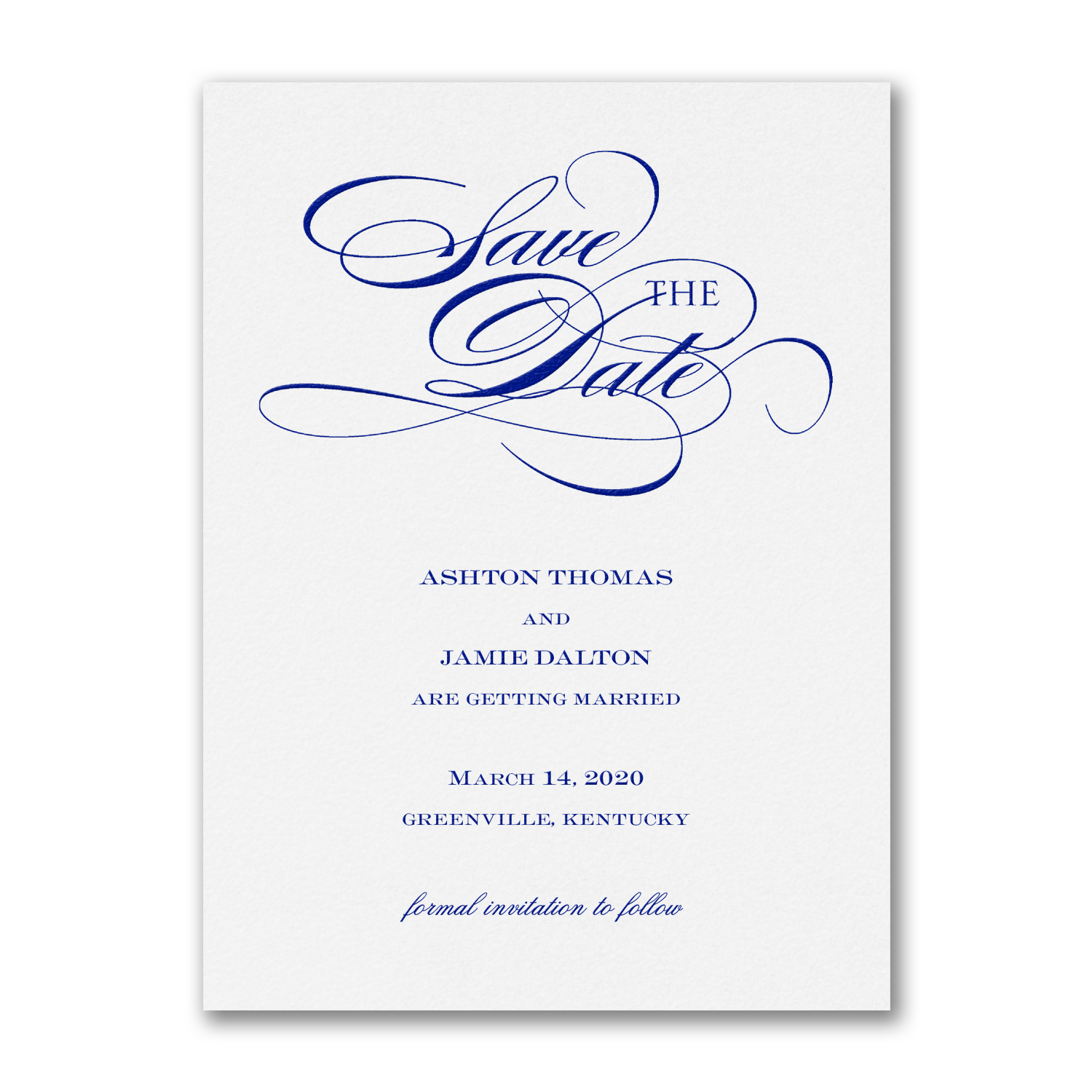 be sure to save the date card thermography carlson craft