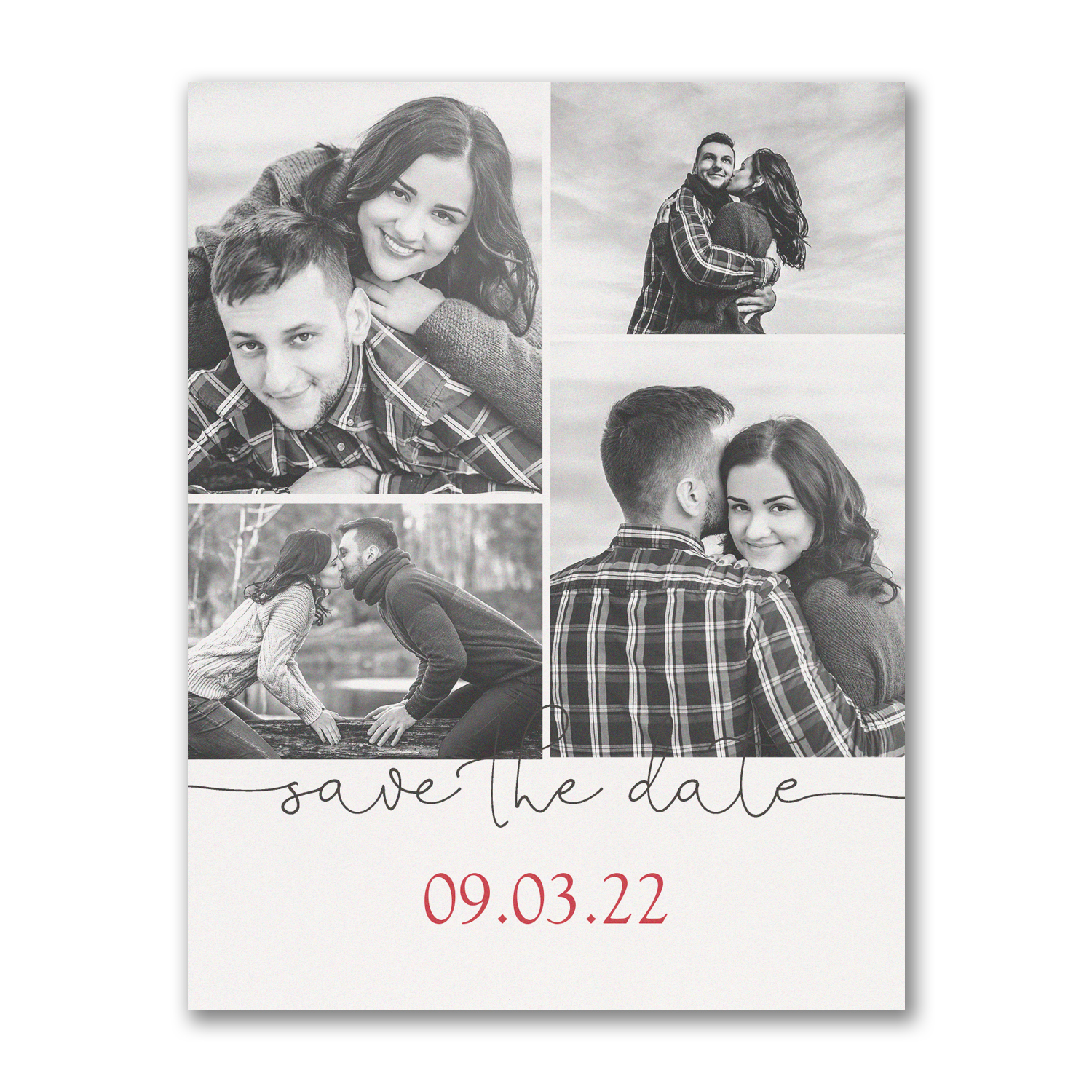photo collage save the date postcard
