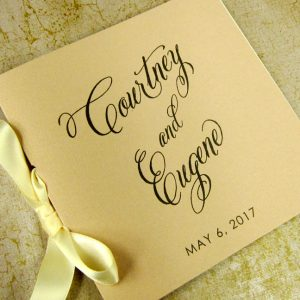 square blush ceremony program