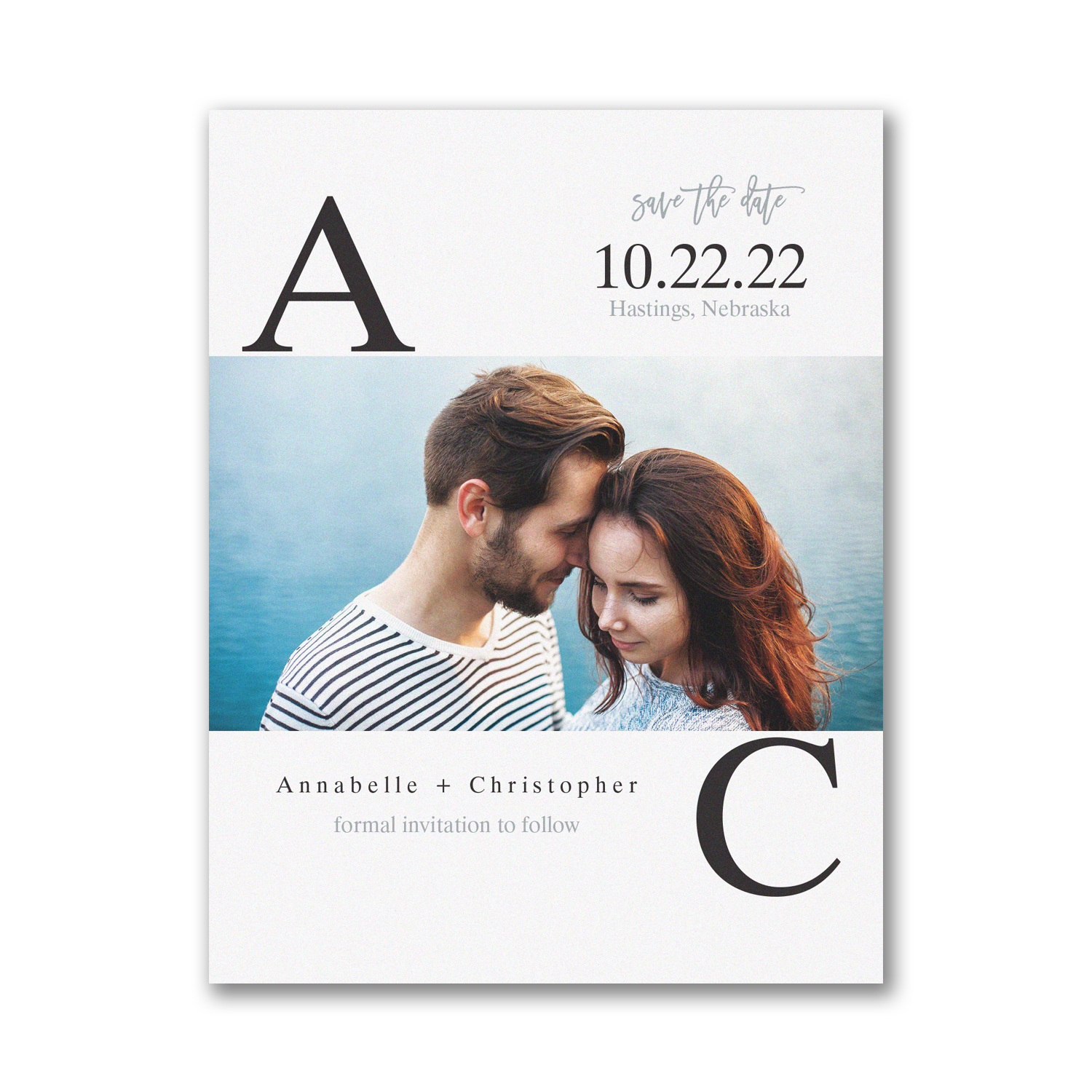 Broad Initials photo save the date carlson craft