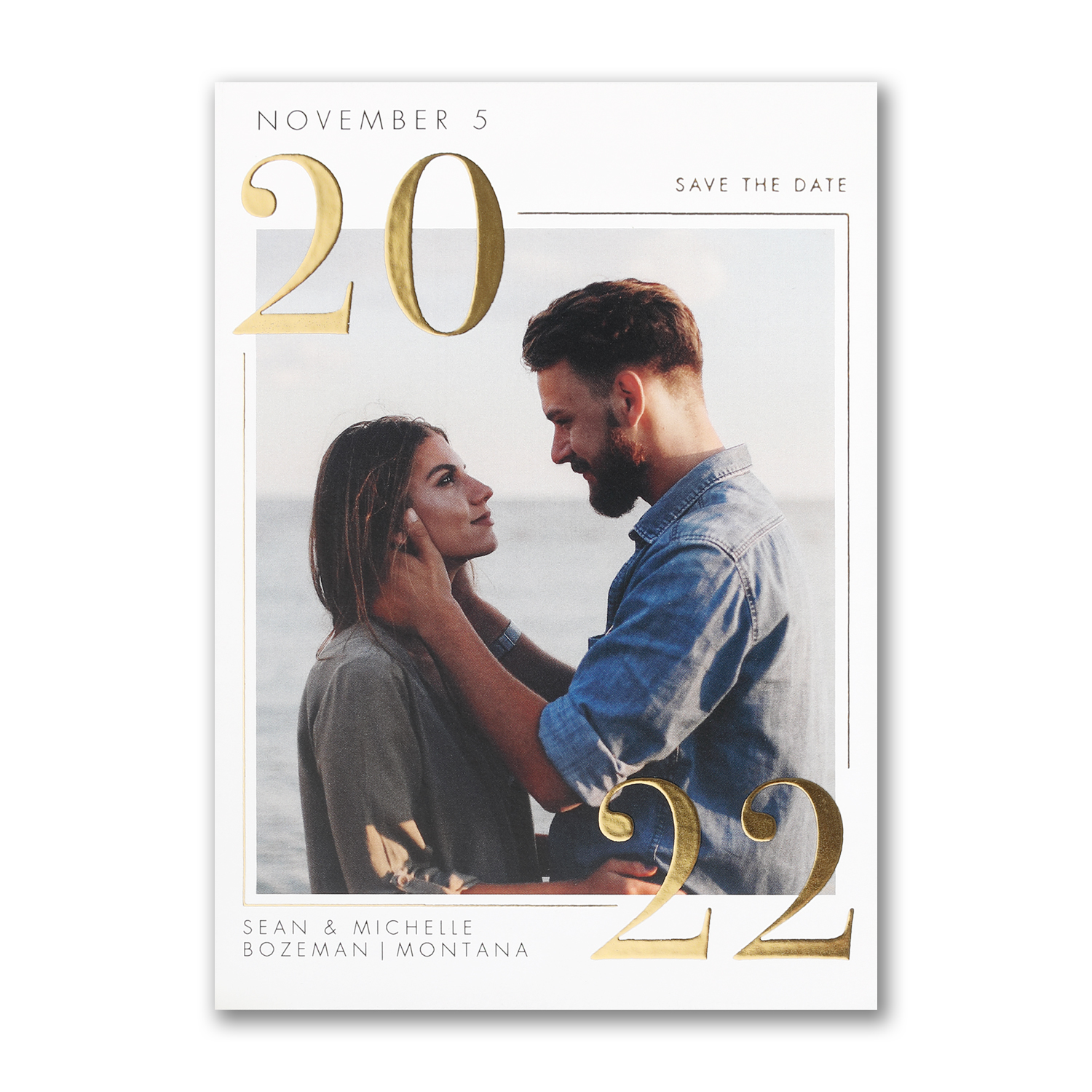 classic date photo save the date foil carlson craft