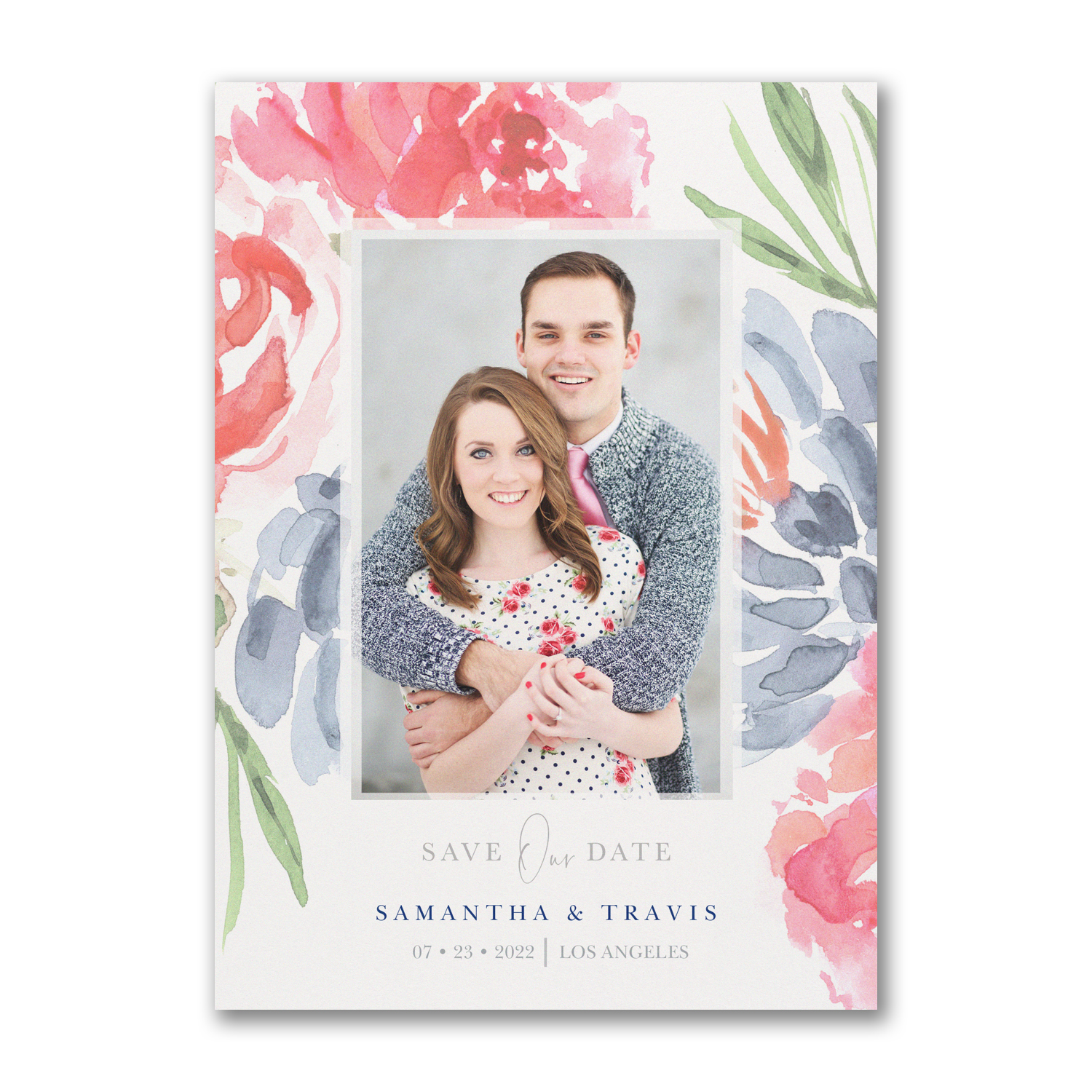 colorful botanicals photo save the date carlson craft