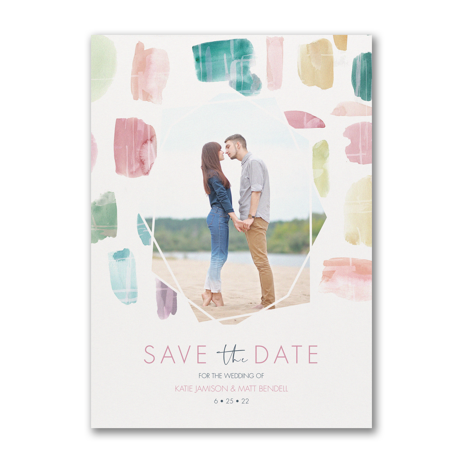 colorful date photo save the date carlson craft