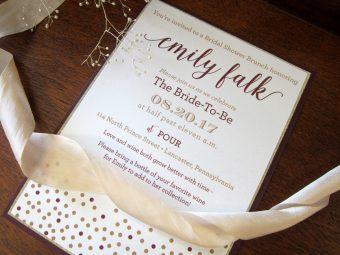 mulberry bridal shower invitation