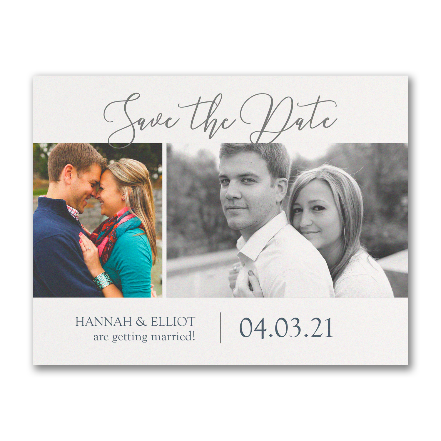 photo collage save the date postcards