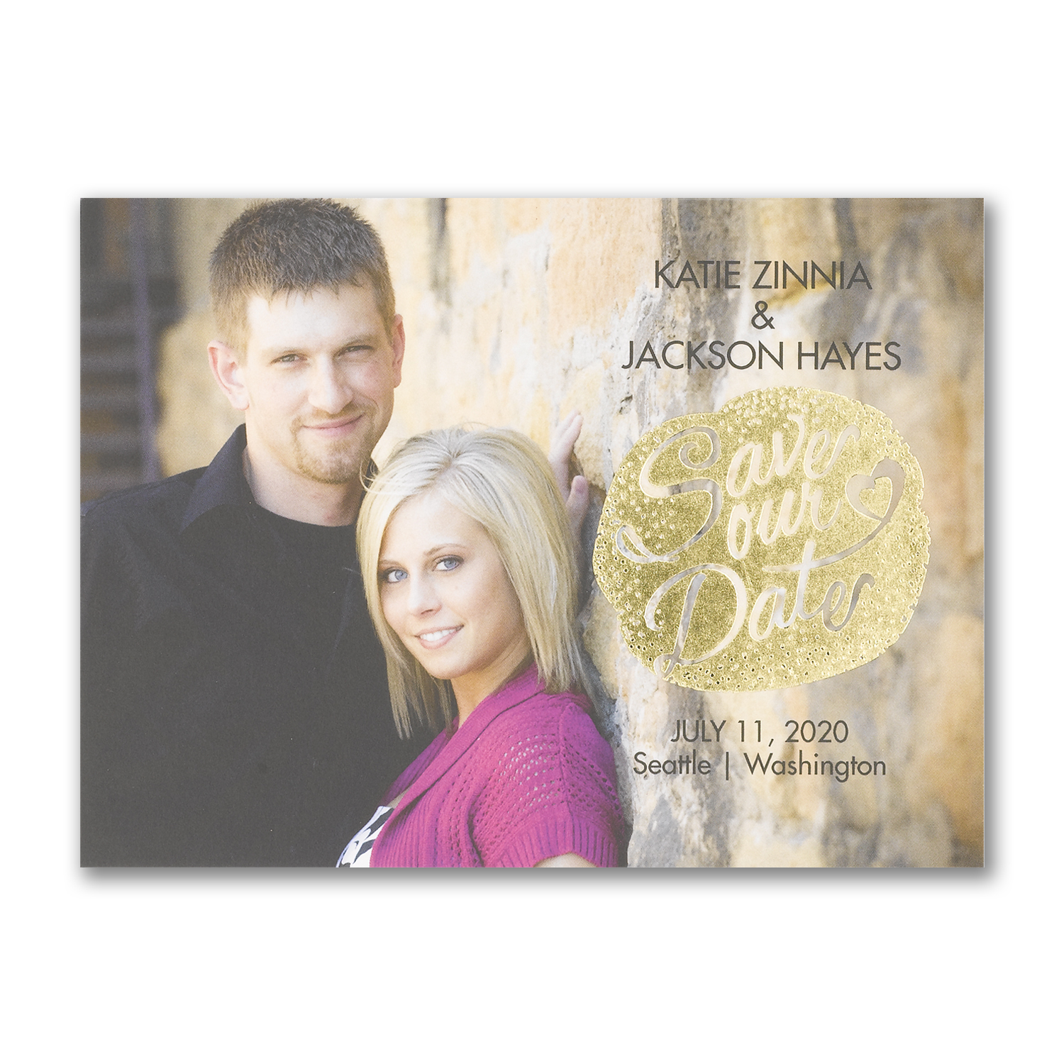 gleaming adoration photo save the date foil carlson craft