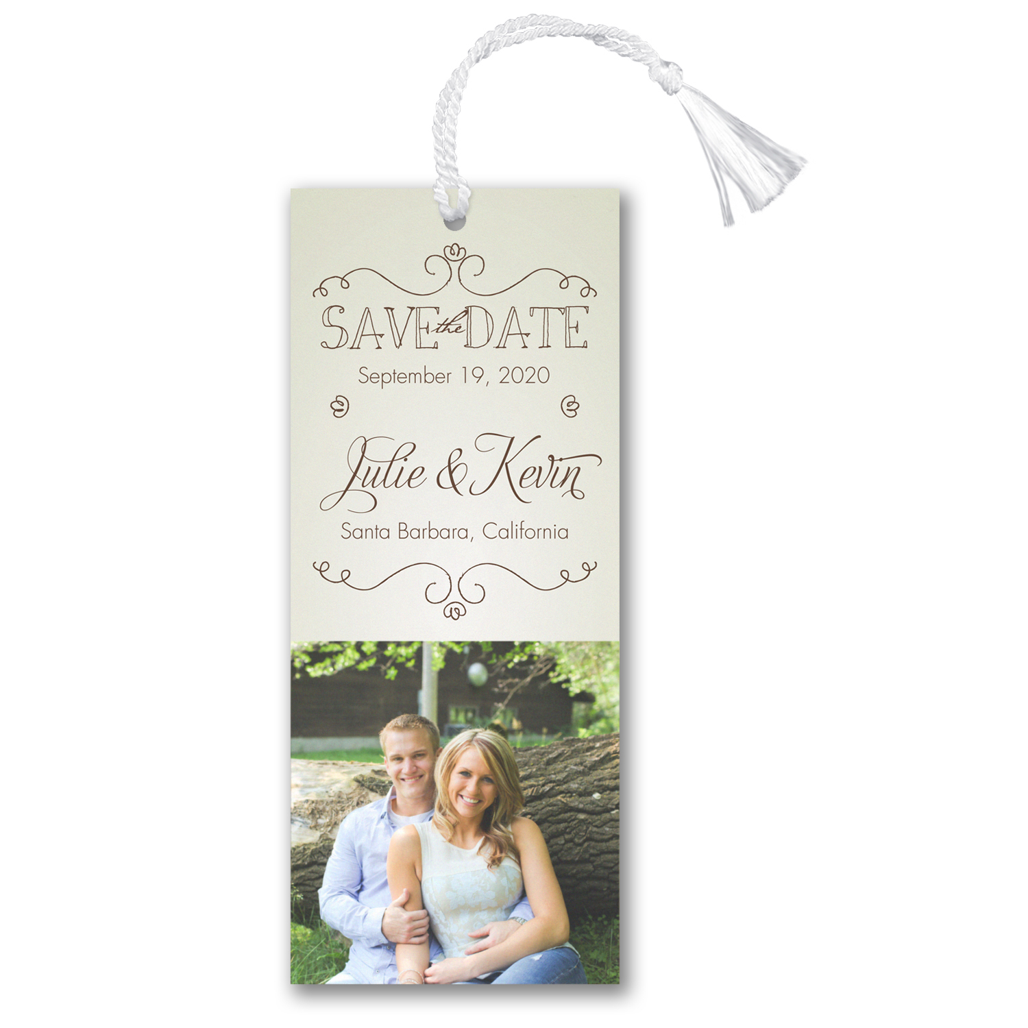 it's on the books photo save the date bookmark carlson craft
