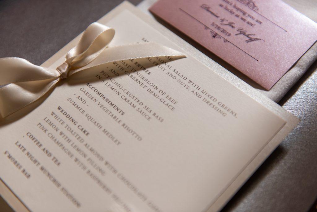 persnickety invitation studio menu custom design