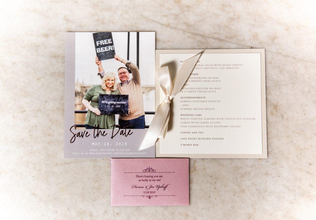 persnickety invitation studio menus wedding accessories