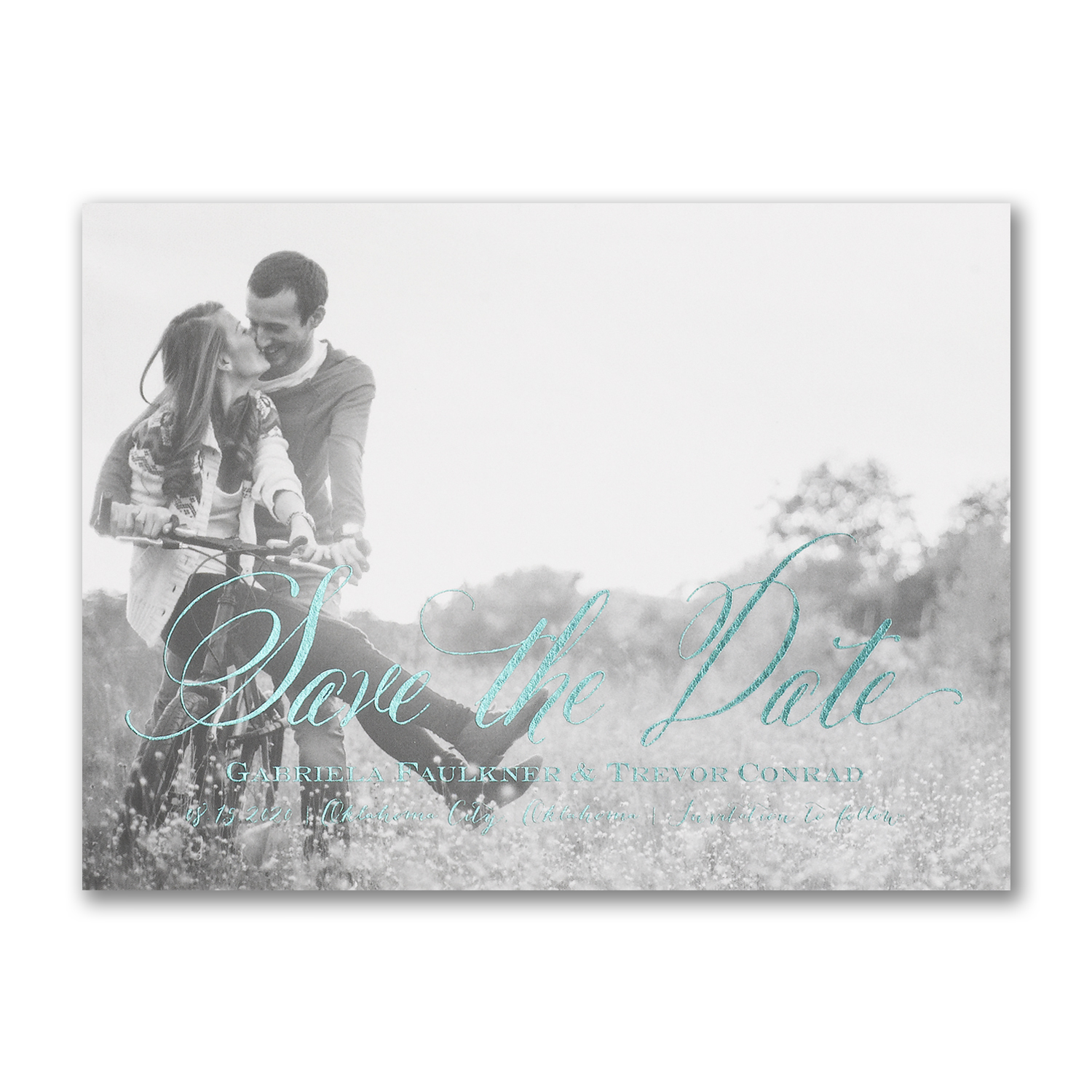 just lovely photo save the date foiling carlson craft