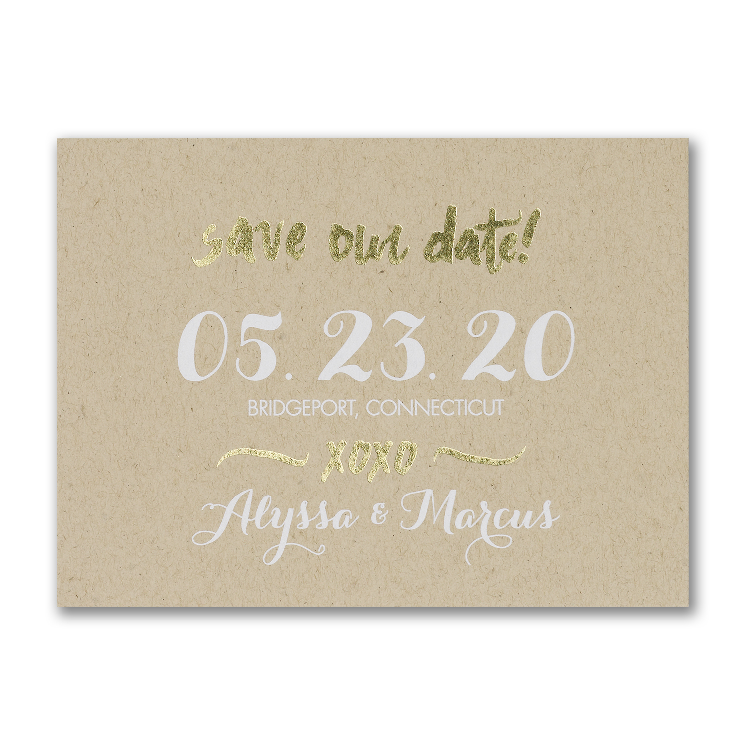 krafted love photo save the date foil carlson craft