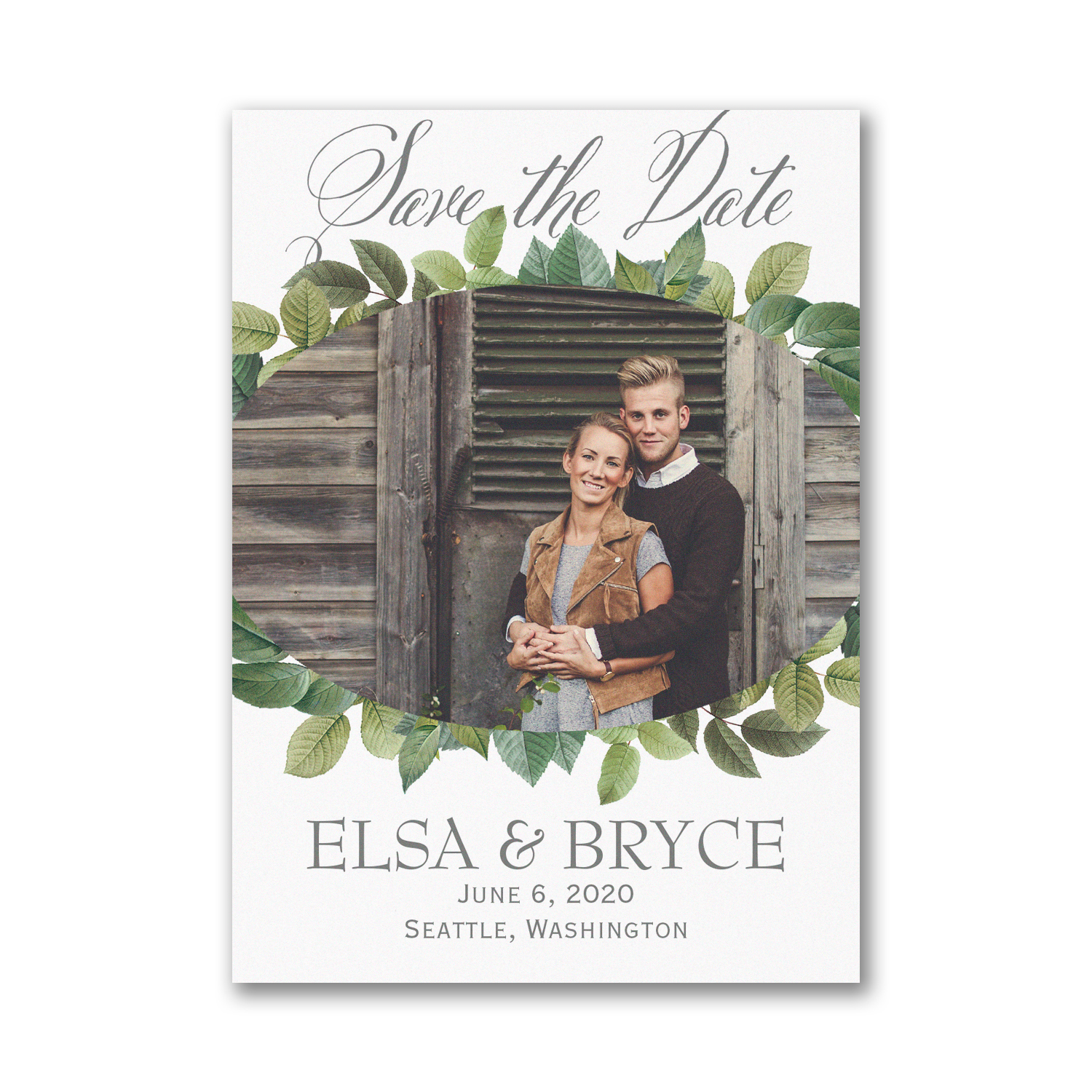 lovely leaves photo save the date magnet carlson craft