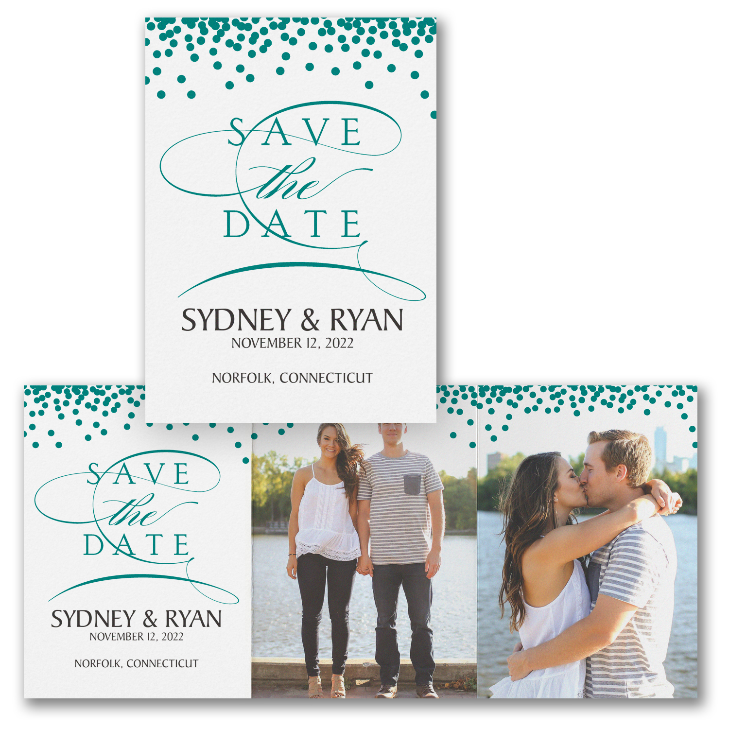 magical romance photo save the date trifold carlson craft