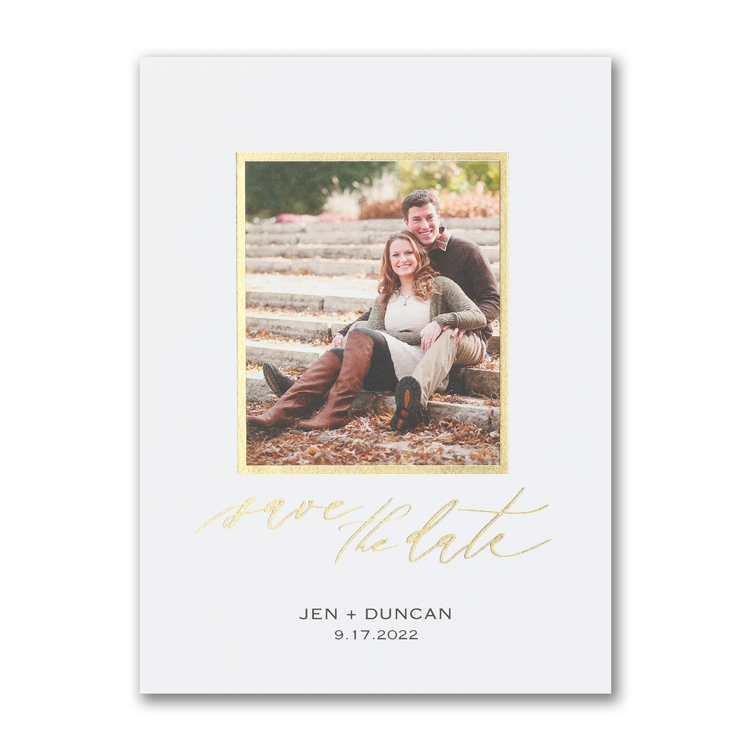 me + you photo save the date foiling carlson craft