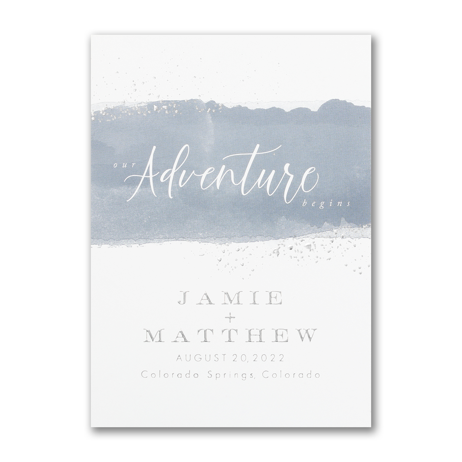 modern adventure watercolor save the date card carlson craft