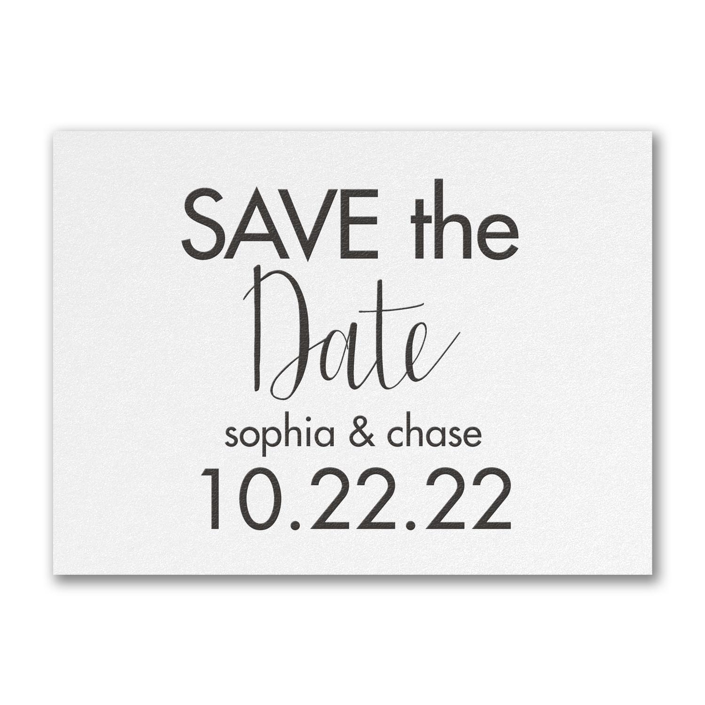 modern date save the date carlson craft