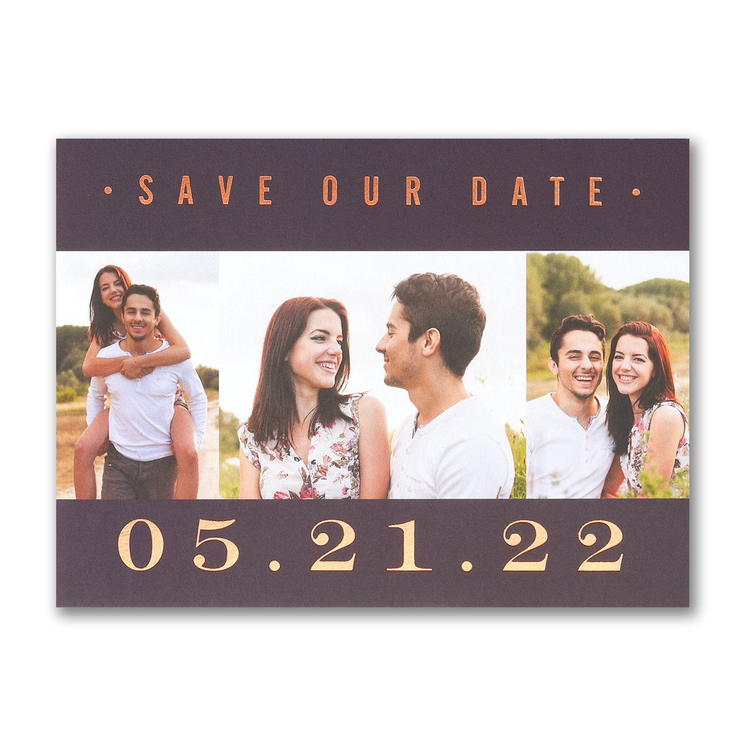 our love photo copper foil save the date carlson craft
