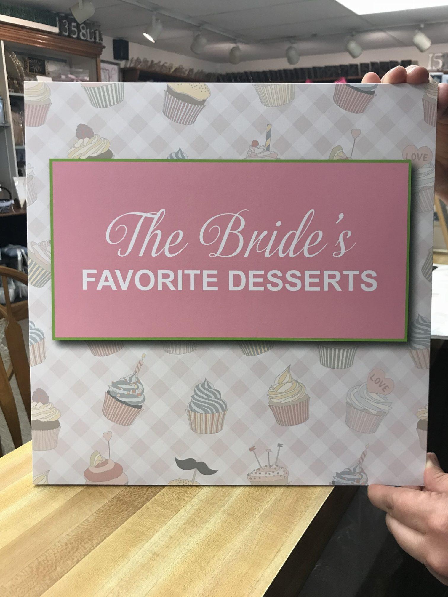 bride's favorite desserts