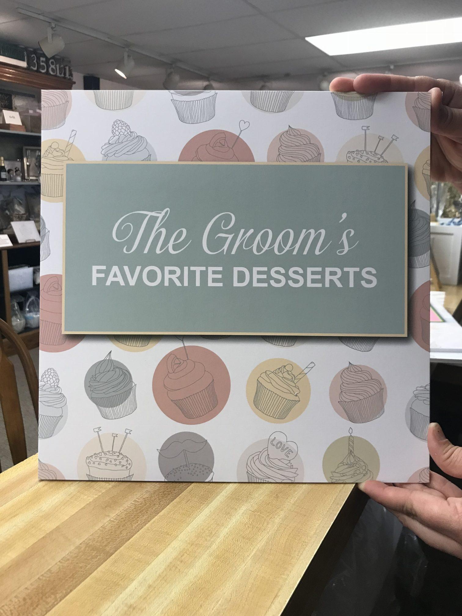 groom's favorite desserts