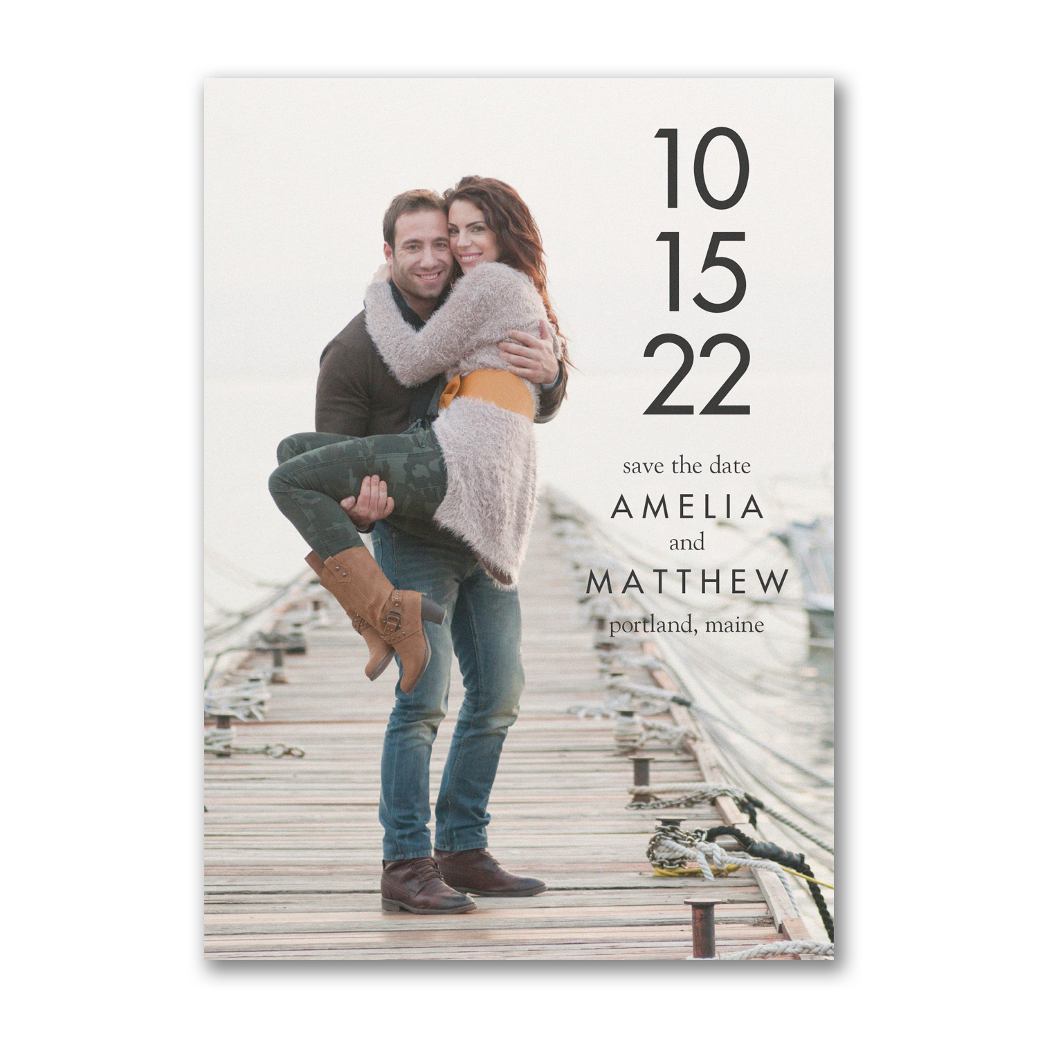 simple date photo save the date carlson craft