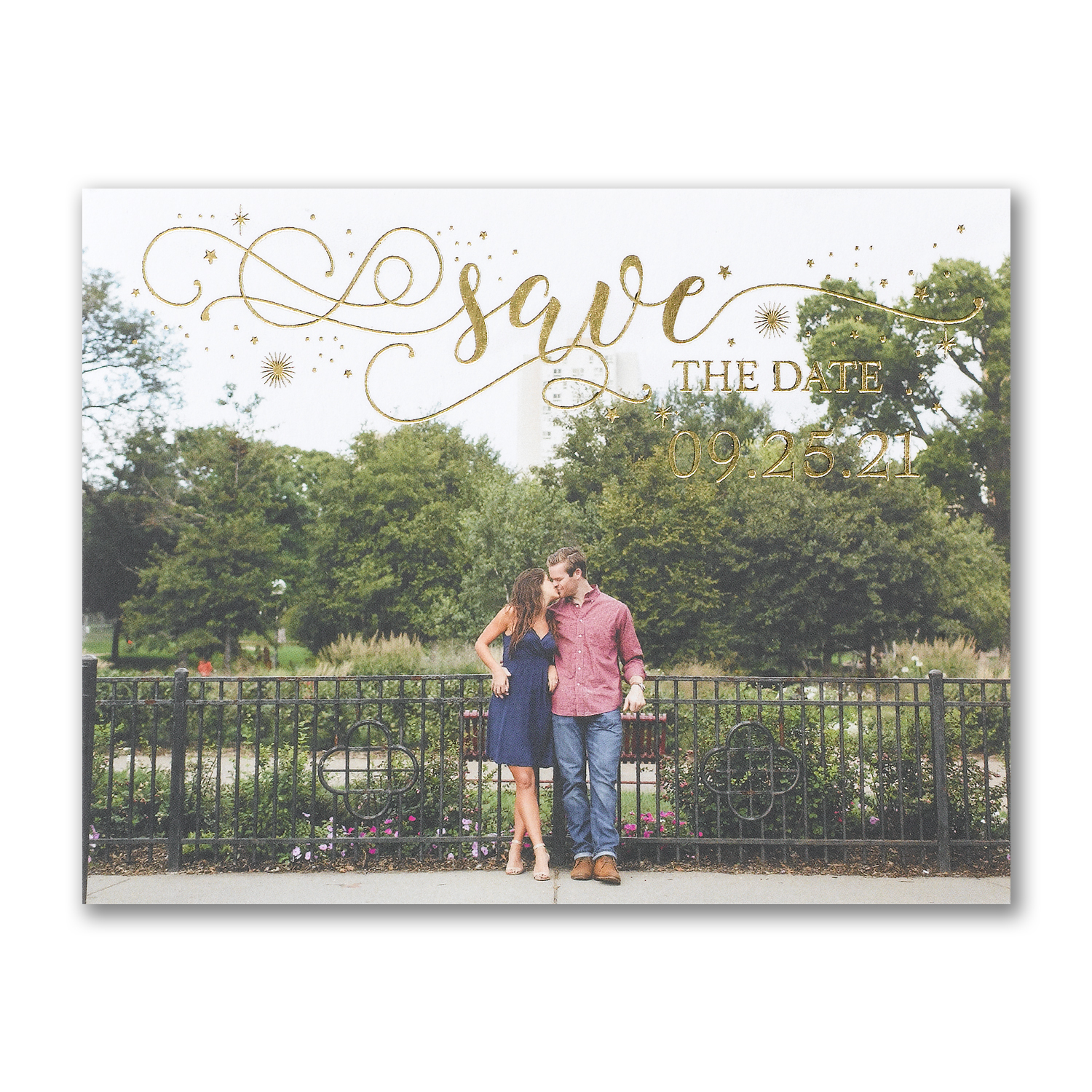 sparkling date photo postcard save the date carlson craft