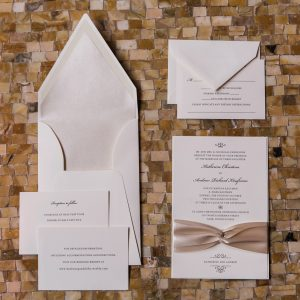 traditional ribbon invitation