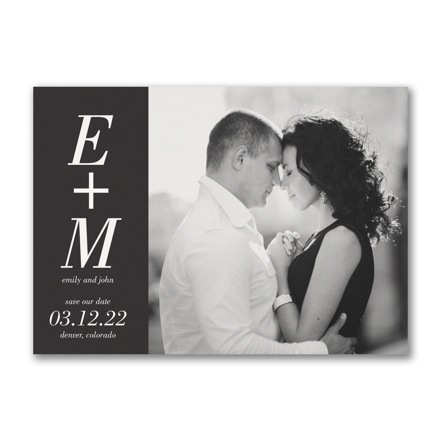 You + Me save the date Carlson Craft