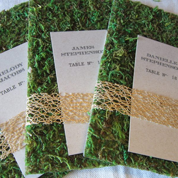 woodland wedding place cards