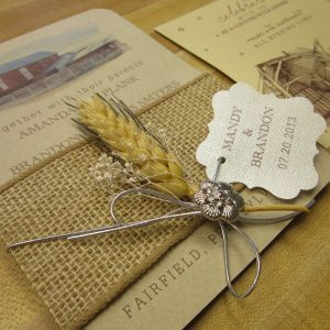 rustic invitation burlap